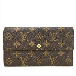 Louis Vuitton Monogram Sarah Wallet +Dust Bag +Box